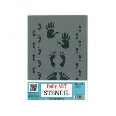 Daily Art műanyag stencil lábnyomos A/5