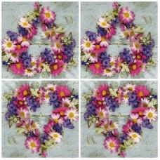 Szalvéta Szív virágokból